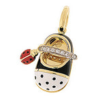 Ladybug Diamond Strap Shoe with Ladybug accent- January 2021 Ship Date