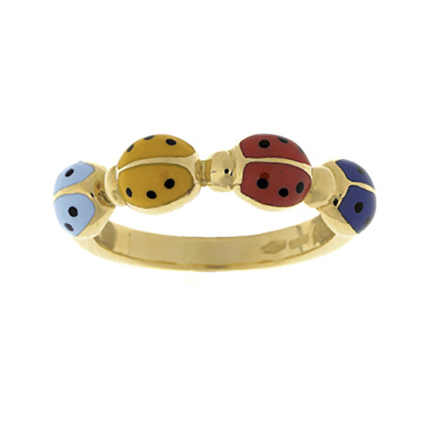 Ladybug Multi Color Ring