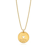Love Is My Religion Yellow Gold on Yellow Gold Ball Faceted Chain