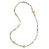 Evil Eye Beaded Choker