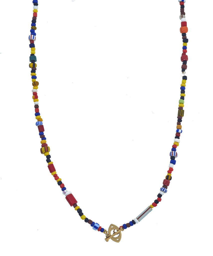 Sass Beaded Toggle Necklace 16""