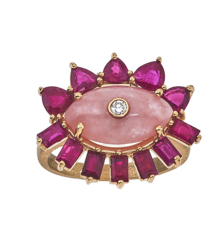Melissa Evil Eye Gemstone Ring