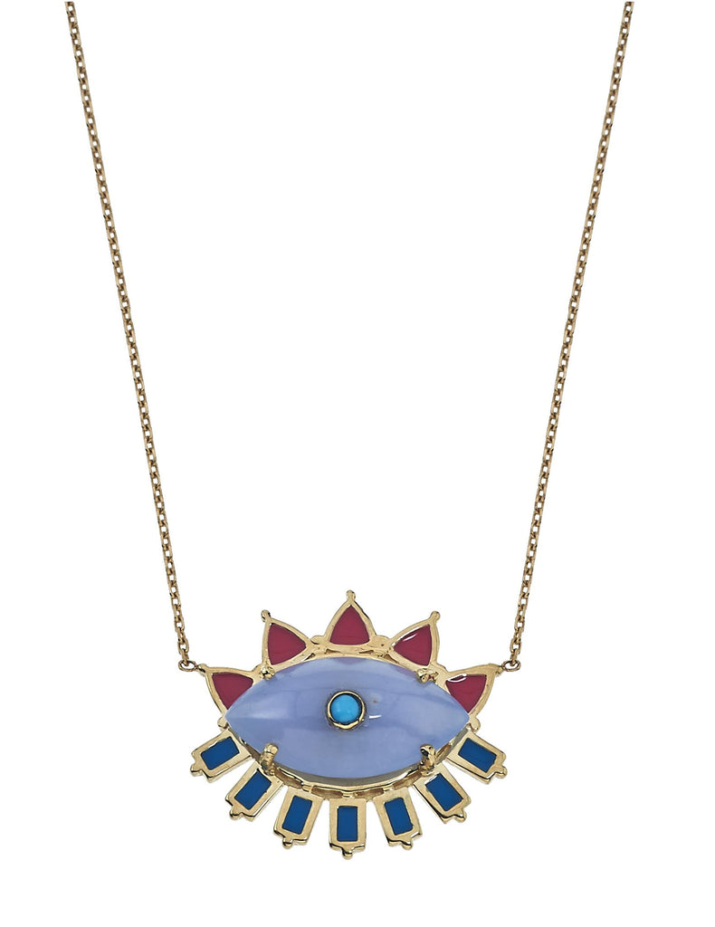 Melissa Moonstone Enamel Necklace