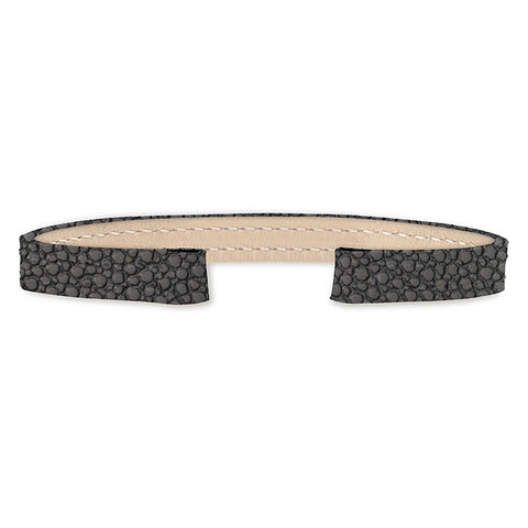 Stingray Leather Strap (dark grey)