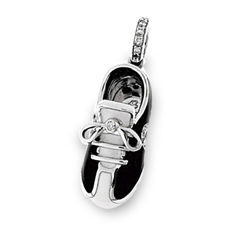 18K White Gold Black & White Sport Shoe