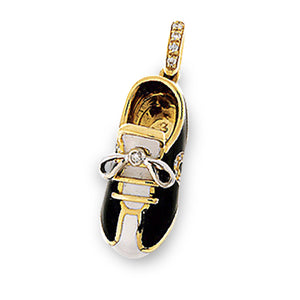 18K Yellow Gold Black & White Sport Shoe