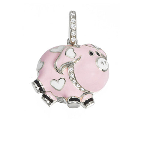 Pig with diamond collar