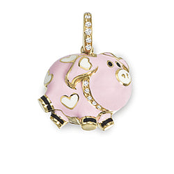 Pig Charm with Diamond Collar
