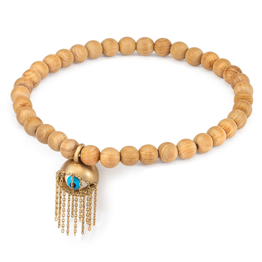 Shoosha Anklet on Wooden Beads