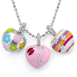 Heart Charms on Necklace - Charms & Necklace sold separately