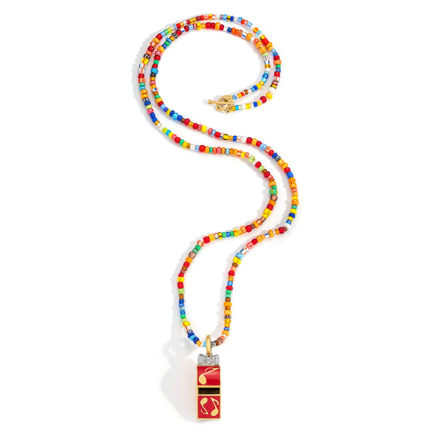 Whistle on Colorful Beaded Necklace