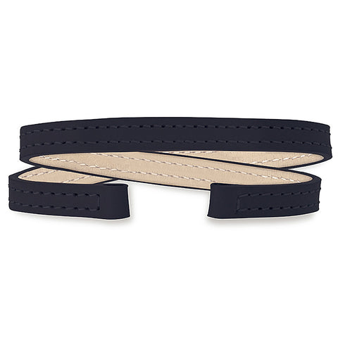 Double Wrap Leather Strap (black)