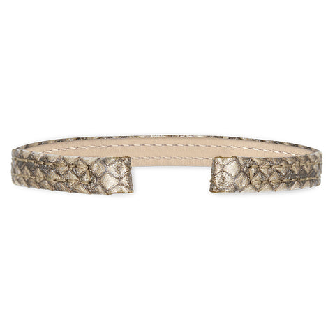 Python Leather Strap (gold)