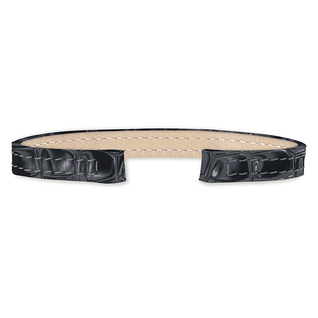 Alligator Leather Strap (black)