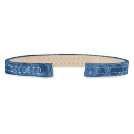 Alligator Leather Strap (blue)
