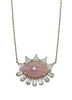 Rose Quartz Diamond Evil Eye Necklace