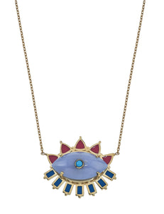 Melissa Chalcedony Evil Eye Necklace