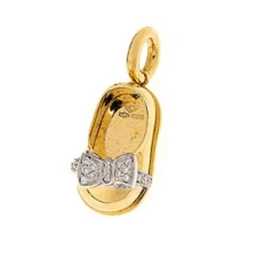 18K Yellow Gold Baby Shoe Charm