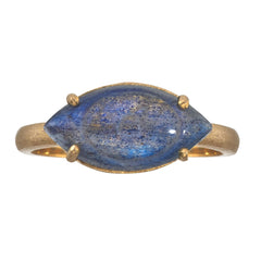 Labradorite Carved Evil Eye Ring