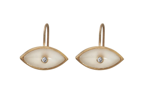 Sasha Diamond Moonstone Evil Eye Earring