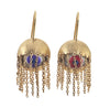 LMAB 14K Shoosha Pink evil eye fringe earring on French wire