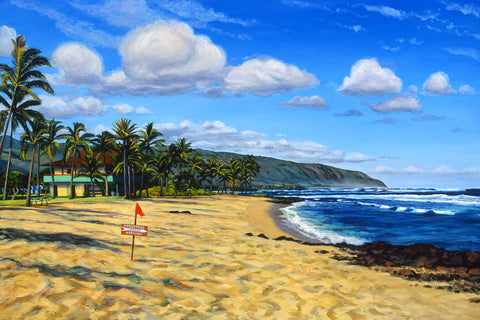 Ali'i Beach Winter Day Art Print