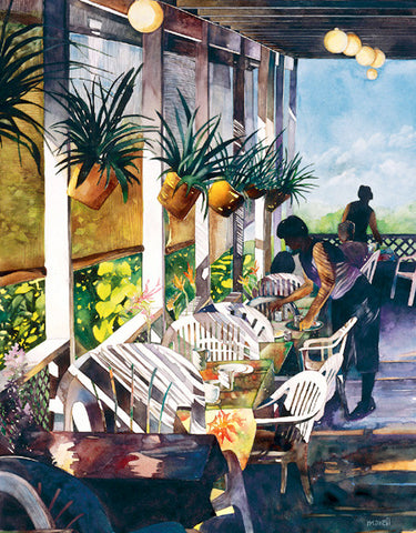 Breakfast At The Aloha Cafe Art Print