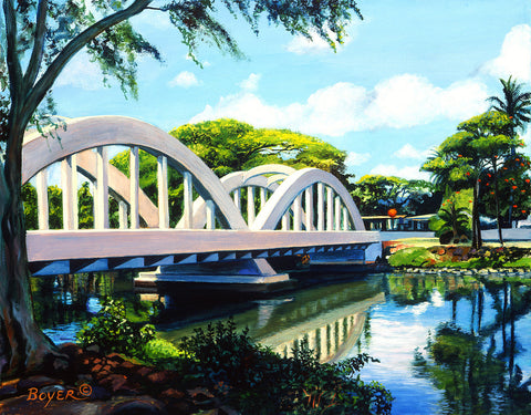 Bridge To Haleiwa Art Print