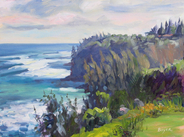 Cliffs of Princeville Painting