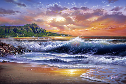 Diamond Head Sunset Art Print