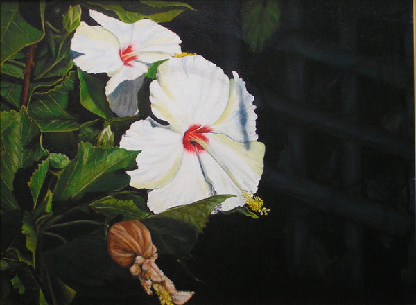 Full Sun - Candy Cane Hibiscus Painting