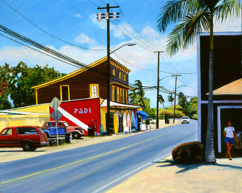 Haleiwa Surf & Sea Art Print