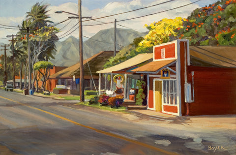Haleiwa Yellow Bloom Art Print