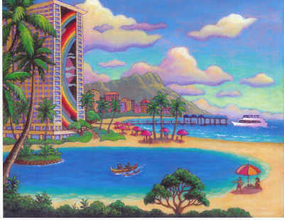 Hilton Hawaiian Village Art Print