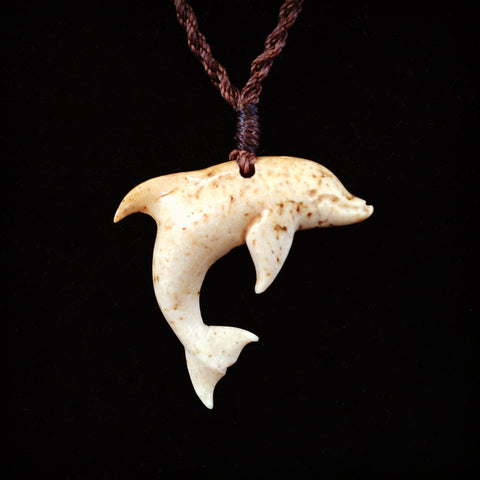 Hand Carved Dolphin Necklace
