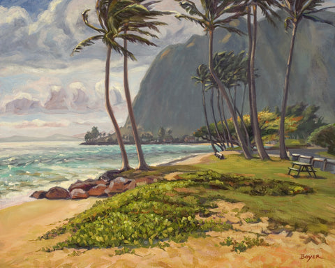 Kaaawa Morning Breeze Art Print