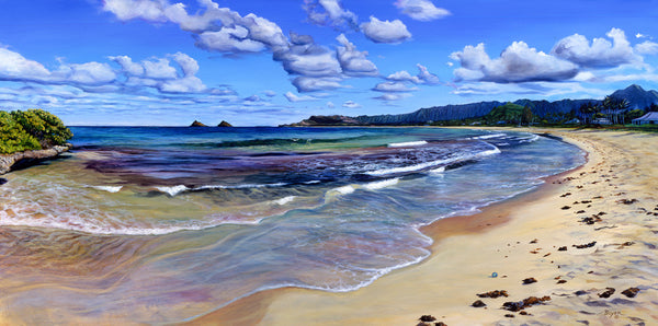 Kailua Bay Treasure Art Print