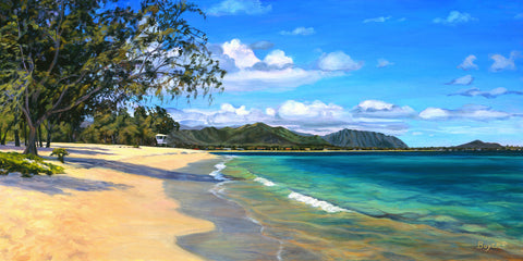 Kailua Beach Calm Art Print