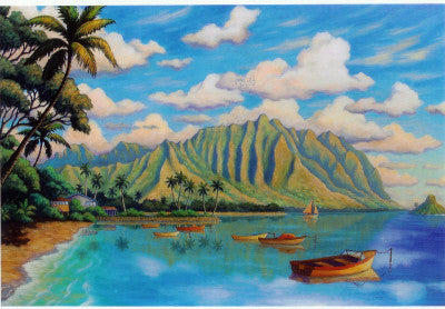 Kaneohe Bay Moorings Art Print