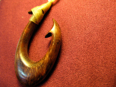 Koa Wood Fish Hook 1