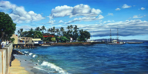 Lahaina Waterfront Art Print