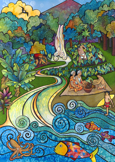 Na Wai Ola (The Living Waters) Art Print