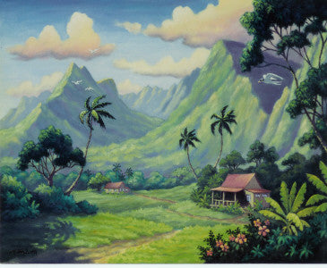 Pali Cliffs And Mt Olomana Art Print