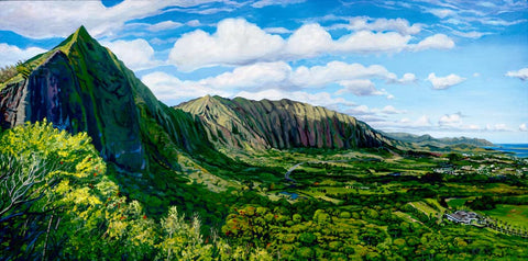 Pali Cliffs Painting