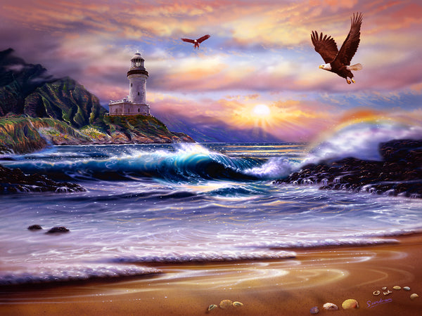 Rainbow Cove Lighthouse Art Print