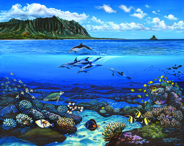 Sealife At Kanehoalani Art Print