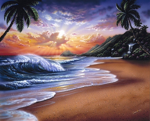 Sunrise beach Art Print