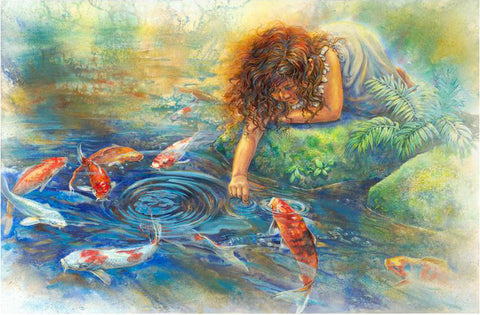 The Koi Whisperer Art Print