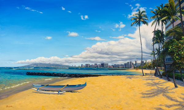 Warm Sands Of Waikiki Art Print