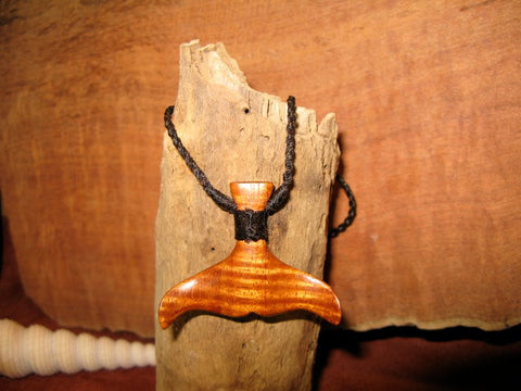Whale Tail Hand Carved Koa